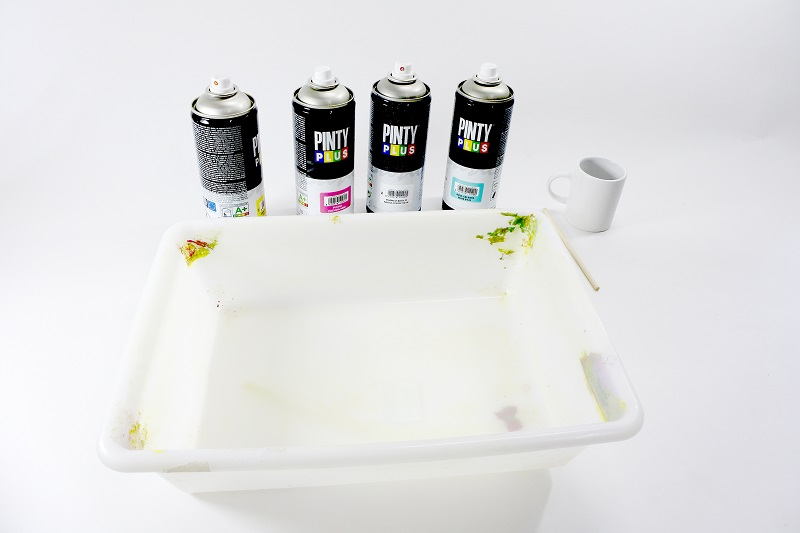 Materials for Marbeling with spray paint Pintyplus