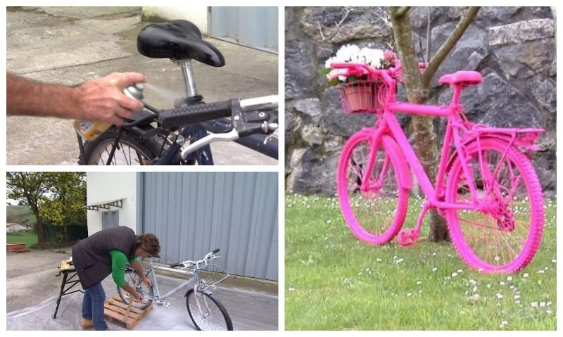 paint-bicycle-decorative-paint-spray-collage