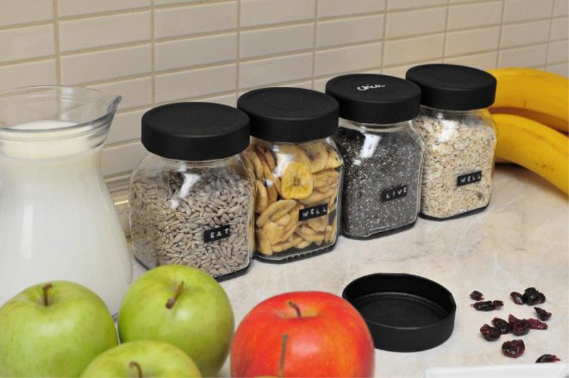 Customize-jam-jars-with-spray-slate-paint